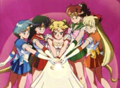 The Sailor Scouts battle Queen Beryl in 'Day of Destiny'