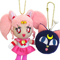 official japanese bandai mini moon and luna p cellphone strap plushies