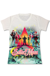 new sailor moon death busters group t-shirt