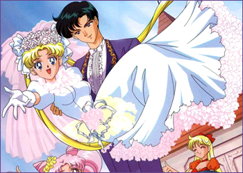 do you prefer usagi / serena with seiya or mamoru / darien? sailor moon and tuxedo mask's wedding