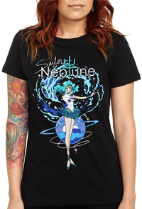new sailor moon t-shirt featuring sailor neptune!