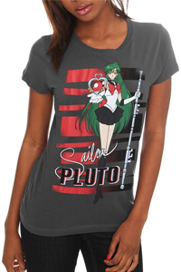 new sailor moon t-shirt featuring sailor pluto!
