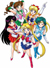 new sailor moon, sailor mercury, sailor mars, sailor jupiter and sailor venus image