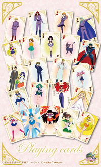 new japanese sailor moon playing cards
