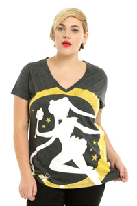 official sailor moon plus size t-shirt
