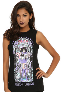official sailor moon sailor saturn muscle top