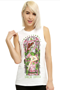 official sailor moon sailor jupiter muscle top