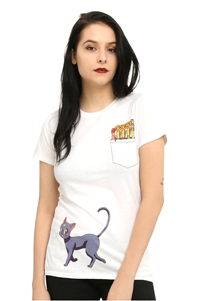 official sailor moon luna and wands t-shirt