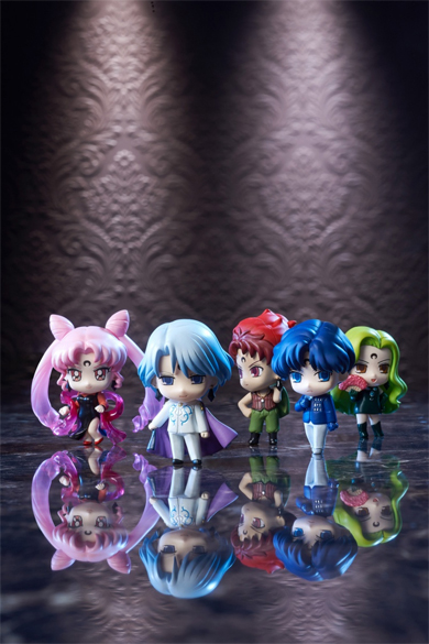 sailor moon petit chara negamoon / black moon figures