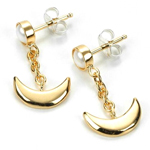 premium bandai sailor moon crescent moon earrings