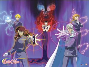 sailor moon queen beryl negaverse poster