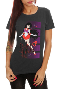 new sailor moon t-shirt from hot topic featuring sailor mars