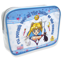 sailor moon blue cosmetic bag