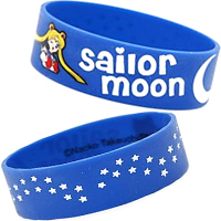 sailor moon blue rubber bracelet