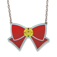 sailor moon bow ribbon necklace