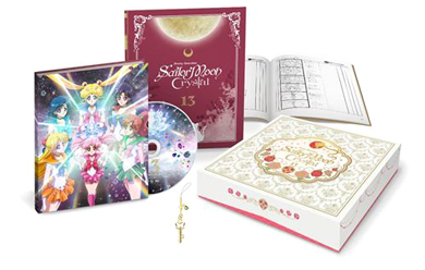 sailor moon crystal blu-ray set volume 13 featuring sailor moon, mercury, mars, jupiter, venus, and mini moon