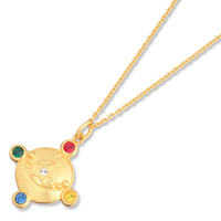 crystal make up jewelry sailor moon crystal brooch pendant