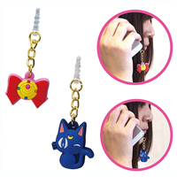 official japanese sailor moon and luna earphone plugs