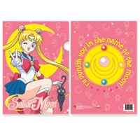 sailor moon file folder