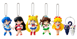 japanese sailor moon gashapon cell phone straps / charms