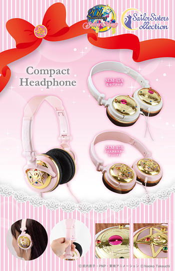 official sailor moon golden headphones
