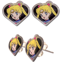 sailor moon heart earrings