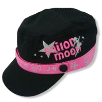 sailor moon pink and black icon cap