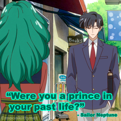 sailor moon crystal meme: were you a prince in your past life? sailor neptune