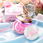 bandai sailor moon miracle romance shining moon powder compact / brooch