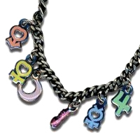 sailor moon planet symbol necklace