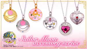 japanese premium bandai sailor moon brooch pendants / necklaces