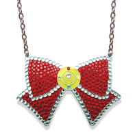 sailor moon glitter ribbon necklace