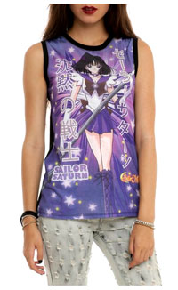 sailor moon, sailor saturn sublimation top