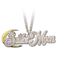 sailor moon studded logo necklace