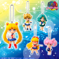 sailor moon, sailor v, sailor uranus, sailor neptune, rini phone charms