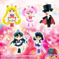 Sailor Moon Swing Set 3 with Super Sailor Moon, Saturn, Pluto, Tuxedo Mask and Sailor Mini Moon