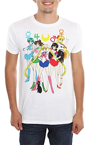 sailor moon mens t-shirt featuring the sailor scouts / senshi / guardians from hot topic