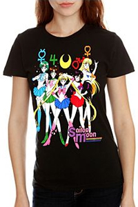 sailor moon sailor scouts t-shirt