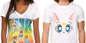 official sailor moon mens and womens t-shirts