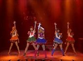 Sailor Venus, Sailor Jupiter, Sailor Moon, Sailor Mercury and Sailor Mars in the Sailor Moon SuperS Revision Musical