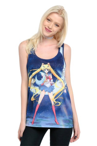 official sailor moon crystal girl's tank top