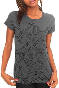 new sailor moon t-shirt featuring super sailor moon and sailor mini moon / chibi moon!