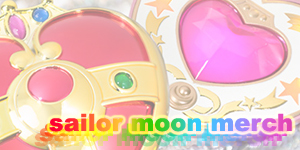 sailor moon toys, t-shirts, figures, dvds, blu-rays, cds, and other merchandise