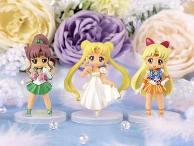 sailor moon crystal atsumete figures for girls set one featuring sailor jupiter, sailor venus and princess serenity!
