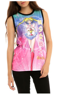 official pink sailor moon sublimation top
